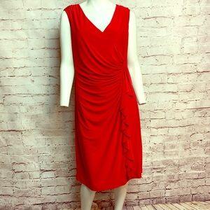 Red hot ruffles! Size 16 Black Label Dress #517